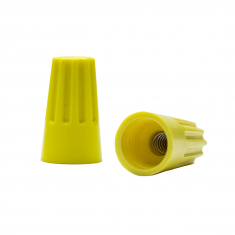 YELLOW Twist-On Wiring Connector - 2 Wire