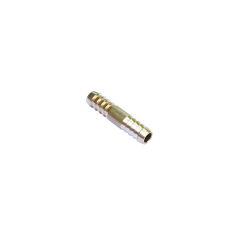 Brass Equal Barbed Hose Mender Joiner - 5mm to 5mm - for Pole Hose