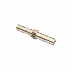 Brass Equal Barbed Hose Mender Joiner - 6mm to 6mm - for Microbore