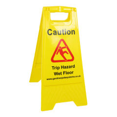 A Frame Safety Sign - Trip Hazard, Wet Floor