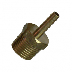 Metal Male BSPT Screw Thread to Hose Barb Fittings