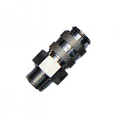 """EZ Snap Female End Stop Coupling with 1/4"""" Male Screw Thread"""
