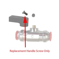 Replacement Screw for Handles on Push-Fit Flow Valve