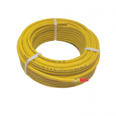 Replacement Hose Pack with Fittings - Flexible Reinforced Yellow PVC